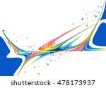 abstract colorful on white... | Shutterstock . vector #478173937