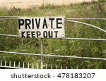 Weathered Private Keep Out Sig...