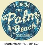 florida palm beach typography ... | Shutterstock .eps vector #478184167