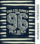 florida palm beach typography ...   Shutterstock .eps vector #478184203