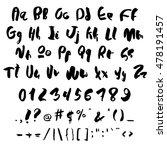 handwritten trendy vector...   Shutterstock .eps vector #478191457