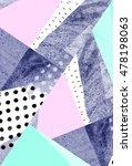 geometric art print  abstract... | Shutterstock . vector #478198063