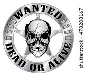 wanted dead or alive is an... | Shutterstock .eps vector #478208167