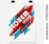 vector brochure flyer. magazine ... | Shutterstock .eps vector #478217863