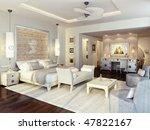hotel room. design a room in... | Shutterstock . vector #47822167
