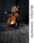 Beautiful Cello Musician On...
