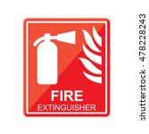 fire extinguisher sign.  | Shutterstock . vector #478228243