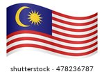 flag of malaysia waving on... | Shutterstock .eps vector #478236787