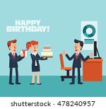 business people celebrating a... | Shutterstock .eps vector #478240957