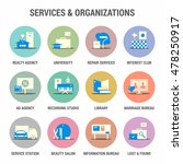 icons set of services and... | Shutterstock .eps vector #478250917