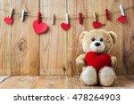 a photo of teddy bear holding a ...   Shutterstock . vector #478264903