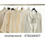 set of female dress with coat... | Shutterstock . vector #478268407