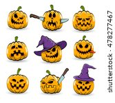 colored isolated halloween... | Shutterstock .eps vector #478277467