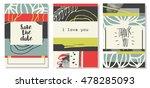 set of modern universal cards.... | Shutterstock .eps vector #478285093