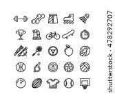 sports outline symbols sports... | Shutterstock .eps vector #478292707