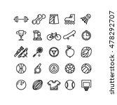 sports outline symbols sports... | Shutterstock .eps vector #478292707