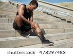 black male jogger in black