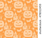 halloween seamless pattern.... | Shutterstock .eps vector #478312453