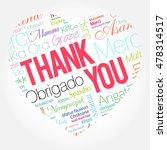 thank you love heart word cloud ... | Shutterstock .eps vector #478314517