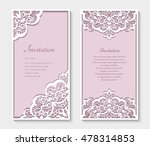 elegant cards with lace... | Shutterstock .eps vector #478314853