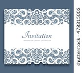 elegant cutout paper frame with ...   Shutterstock .eps vector #478315003