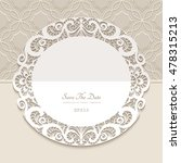 vintage round frame  paper lace ... | Shutterstock .eps vector #478315213