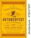 oktoberfest beer festival... | Shutterstock .eps vector #478317307