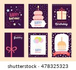 vector set of colorful... | Shutterstock .eps vector #478325323