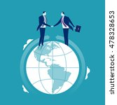 global cooperation. businessmen ... | Shutterstock .eps vector #478328653