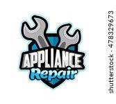 repair appliances logo    Shutterstock .eps vector #478329673
