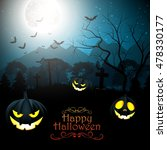 halloween creepy forest at... | Shutterstock .eps vector #478330177