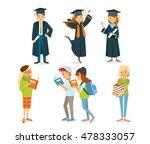 university students graduation | Shutterstock .eps vector #478333057