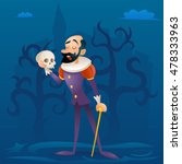 man medieval suit tragic actor... | Shutterstock .eps vector #478333963