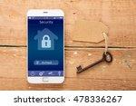 smartphone with smart home... | Shutterstock . vector #478336267