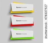 banner design template. set of... | Shutterstock .eps vector #478337527
