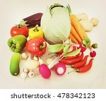 fresh vegetables with green... | Shutterstock . vector #478342123