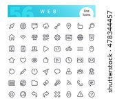 set of 56 web line icons... | Shutterstock .eps vector #478344457