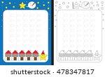 preschool worksheet for... | Shutterstock .eps vector #478347817