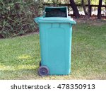 single green trash can  garbage ... | Shutterstock . vector #478350913