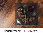 grilled venison slices with... | Shutterstock . vector #478360597