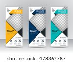 roll up banner stand template...   Shutterstock .eps vector #478362787