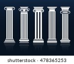 classic columns. ancient vector