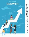 business growth concept... | Shutterstock .eps vector #478369423