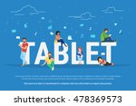 tablet pc concept illustration... | Shutterstock .eps vector #478369573