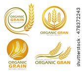 gold circle paddy rice organic... | Shutterstock .eps vector #478372243