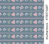 doodle seamless pattern with... | Shutterstock .eps vector #478372687