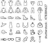 vector set of black doodle... | Shutterstock .eps vector #478384627