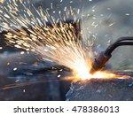 metal cutting with acetylene... | Shutterstock . vector #478386013