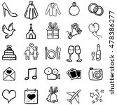 vector set of black doodle... | Shutterstock .eps vector #478386277