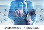 businessman is pressing button... | Shutterstock . vector #478393333